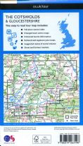 The Cotswolds & Gloucestershire - OS Tour Map